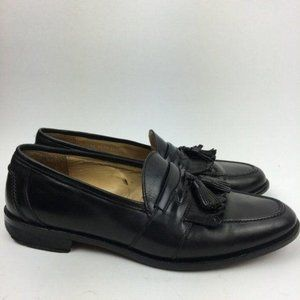 Johnston Murphy Mens Loafers Black Italian Leather
